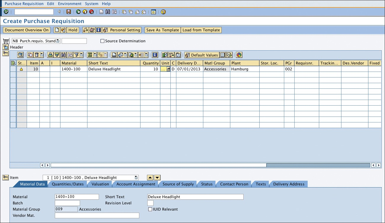 Purchase Requisitions in SAP Materials Management - SAP