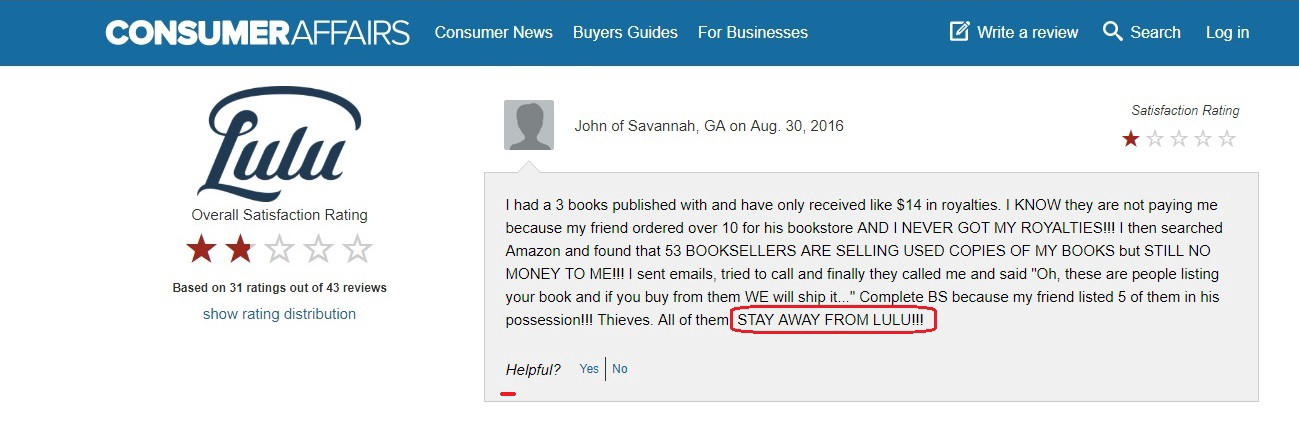 SCAM ALERT! Stay Away From Lulu: How to Self-Publish a Book — Part 5