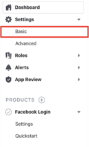 For now you just need to access Basic Settings in the Facebook Developers console for your app