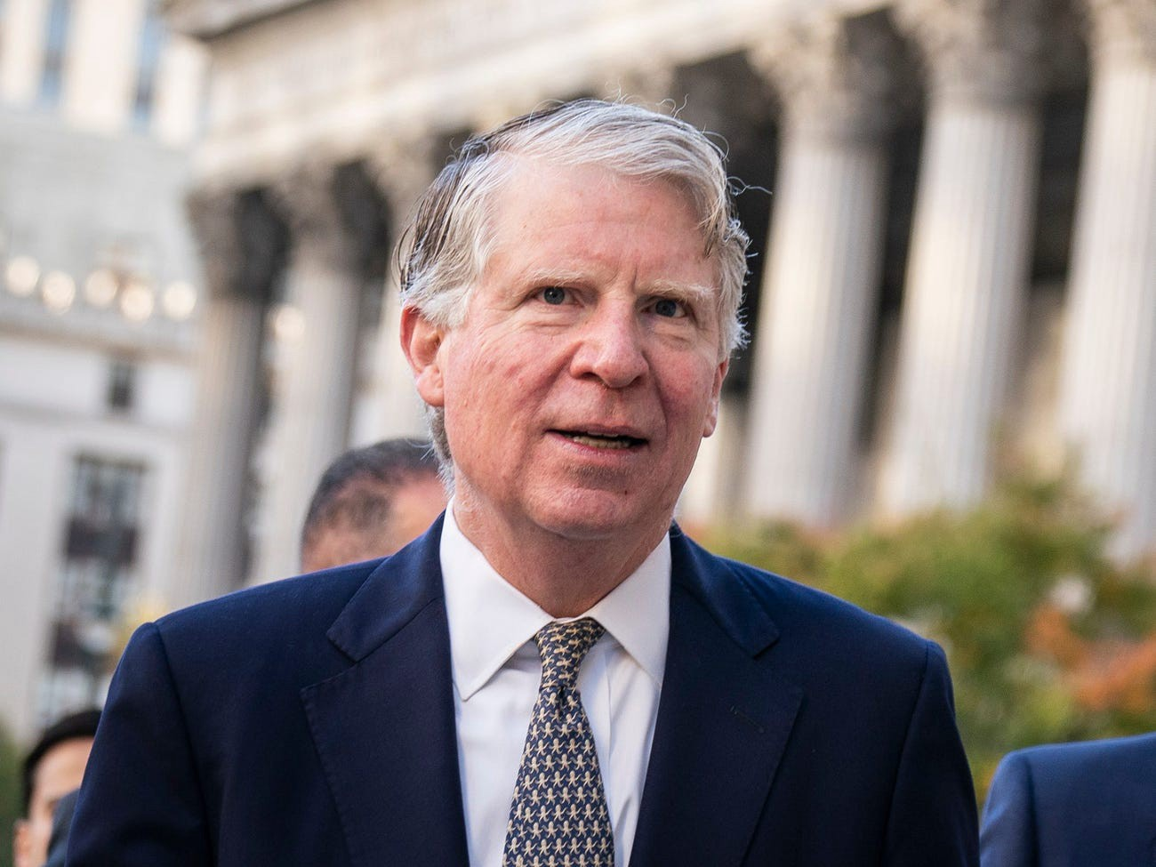 Manhattan District Attorney Cy Vance arrives at federal court for a hearing related to President Donald Trump's financial records on October 23, 2019 in New York City.