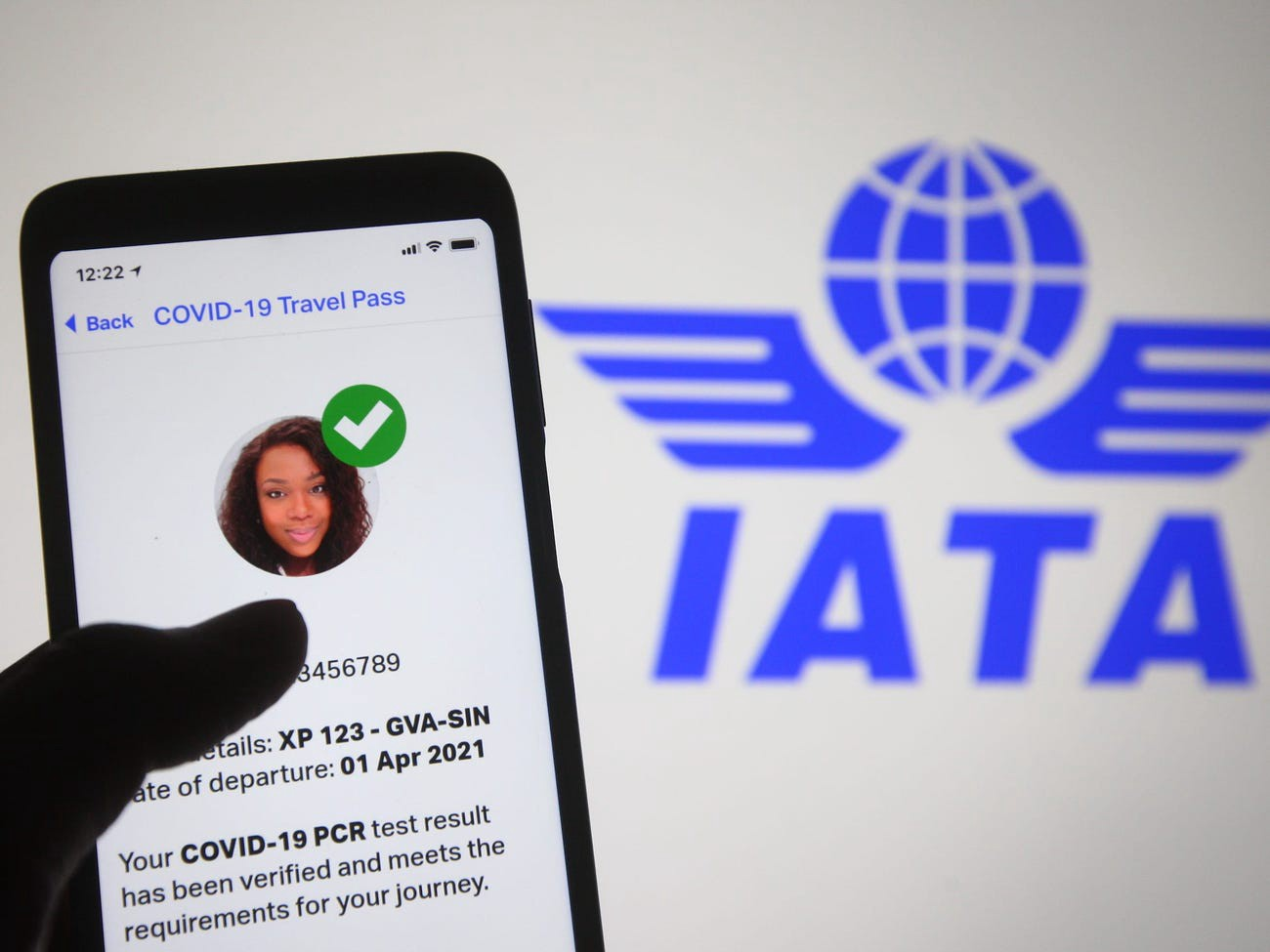 """The IATA Travel Pass app is a new digital """"COVID-19 vaccine passport"""" that lets travelers store their verified certifications for COVID-19 tests or COVID-19 proof of vaccination."""
