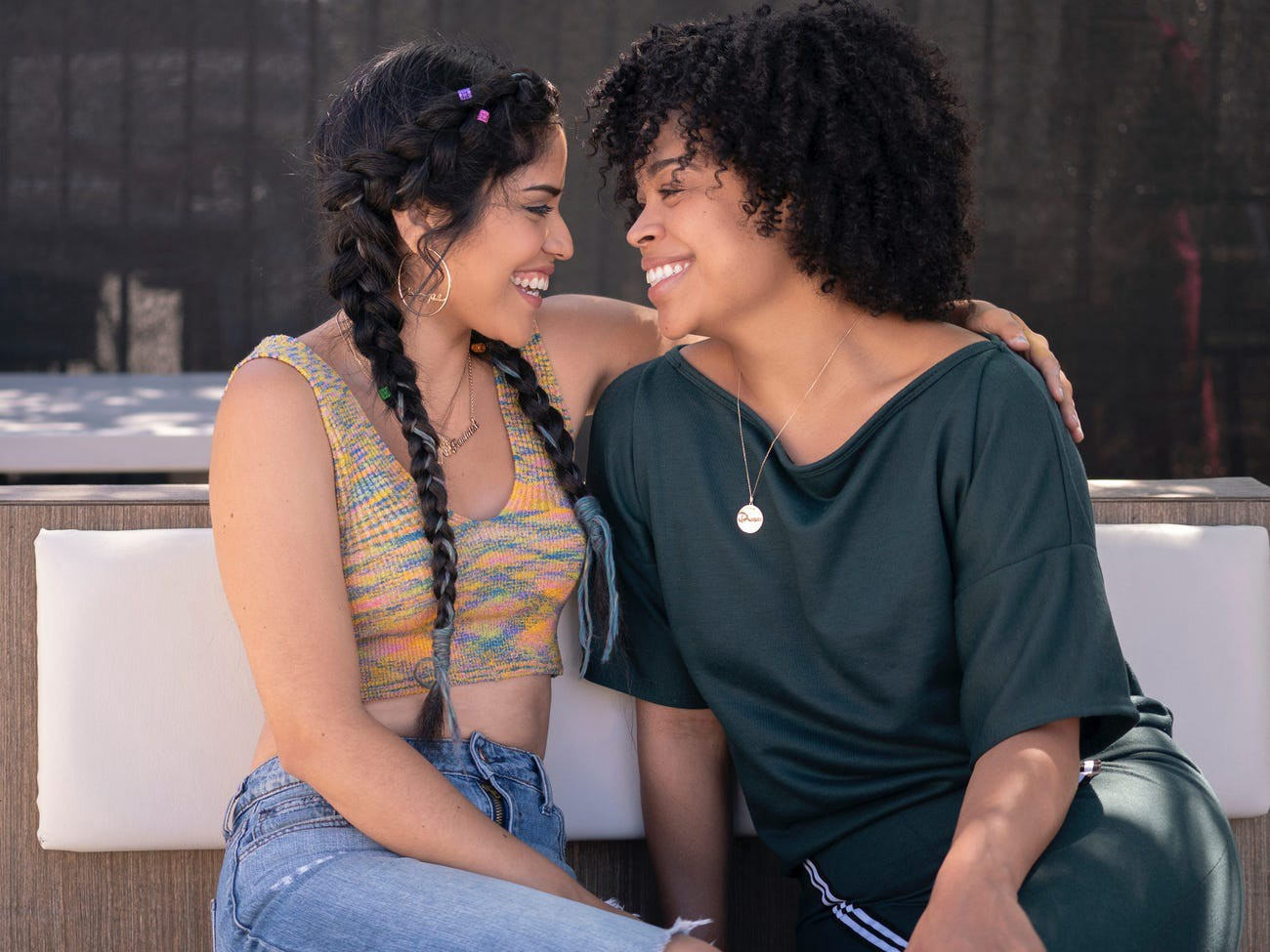 """Karrie Martin and Julissa Calderon play lovers on """"Gentefied."""""""