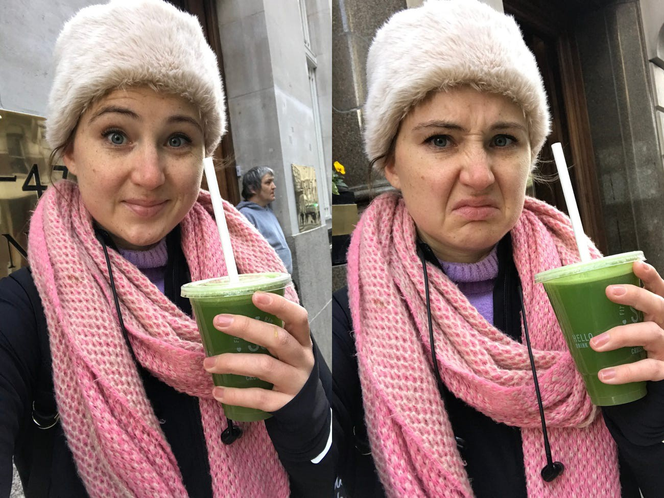 The first celery juice: before and after trying it.