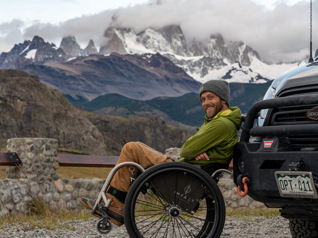 Kirk Williams in El Chaltén, Argentina, in 2020.