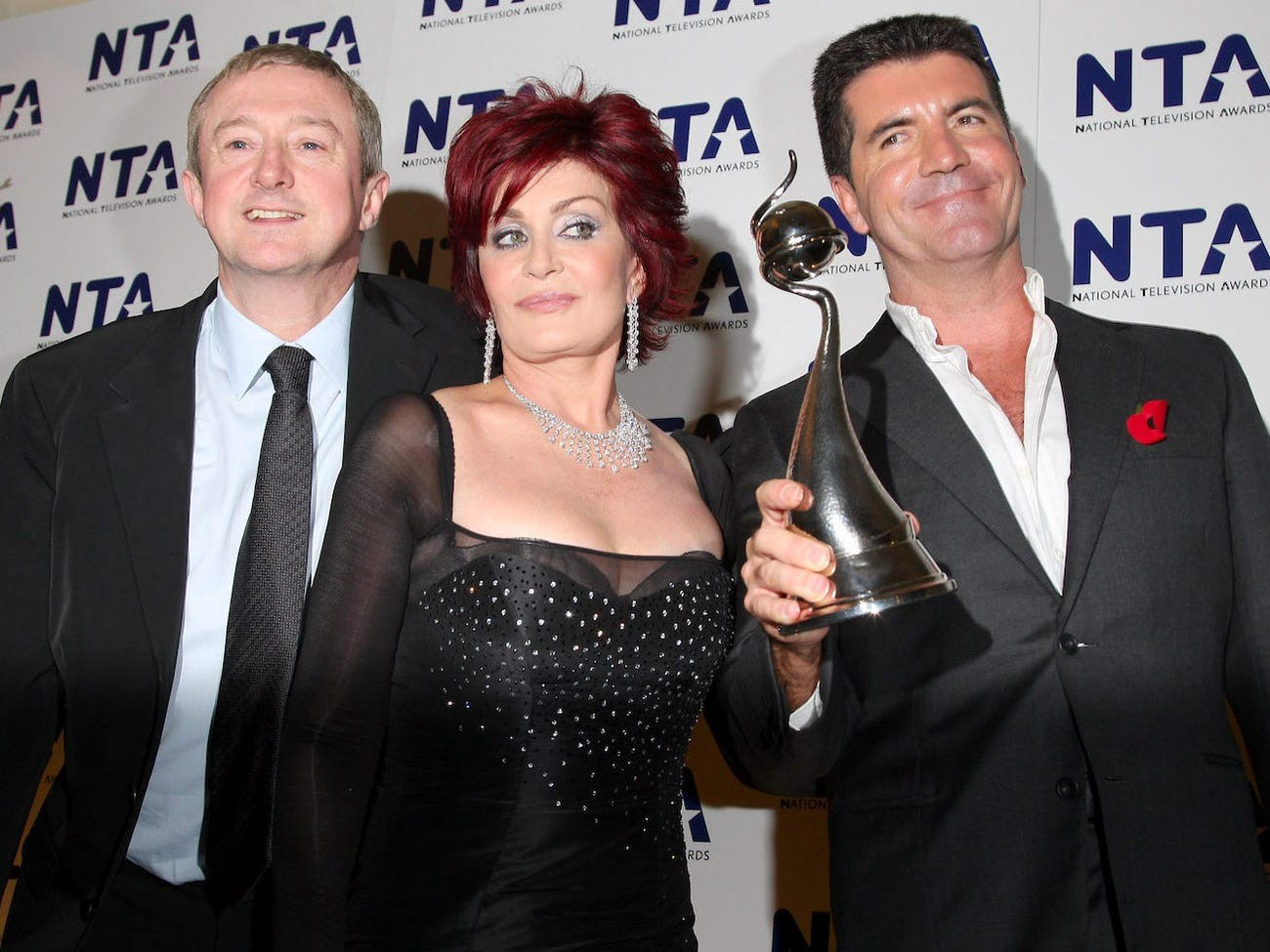 Louis Walsh, Sharon Osbourne and Simon Cowell in 2007.