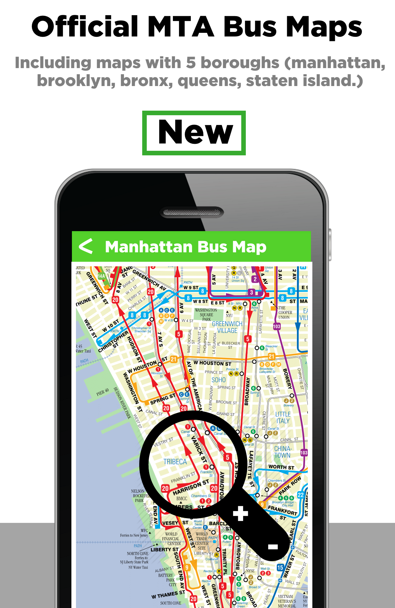 With NYC Bus Tracker & Bus Time (wMaps), the best mta bus