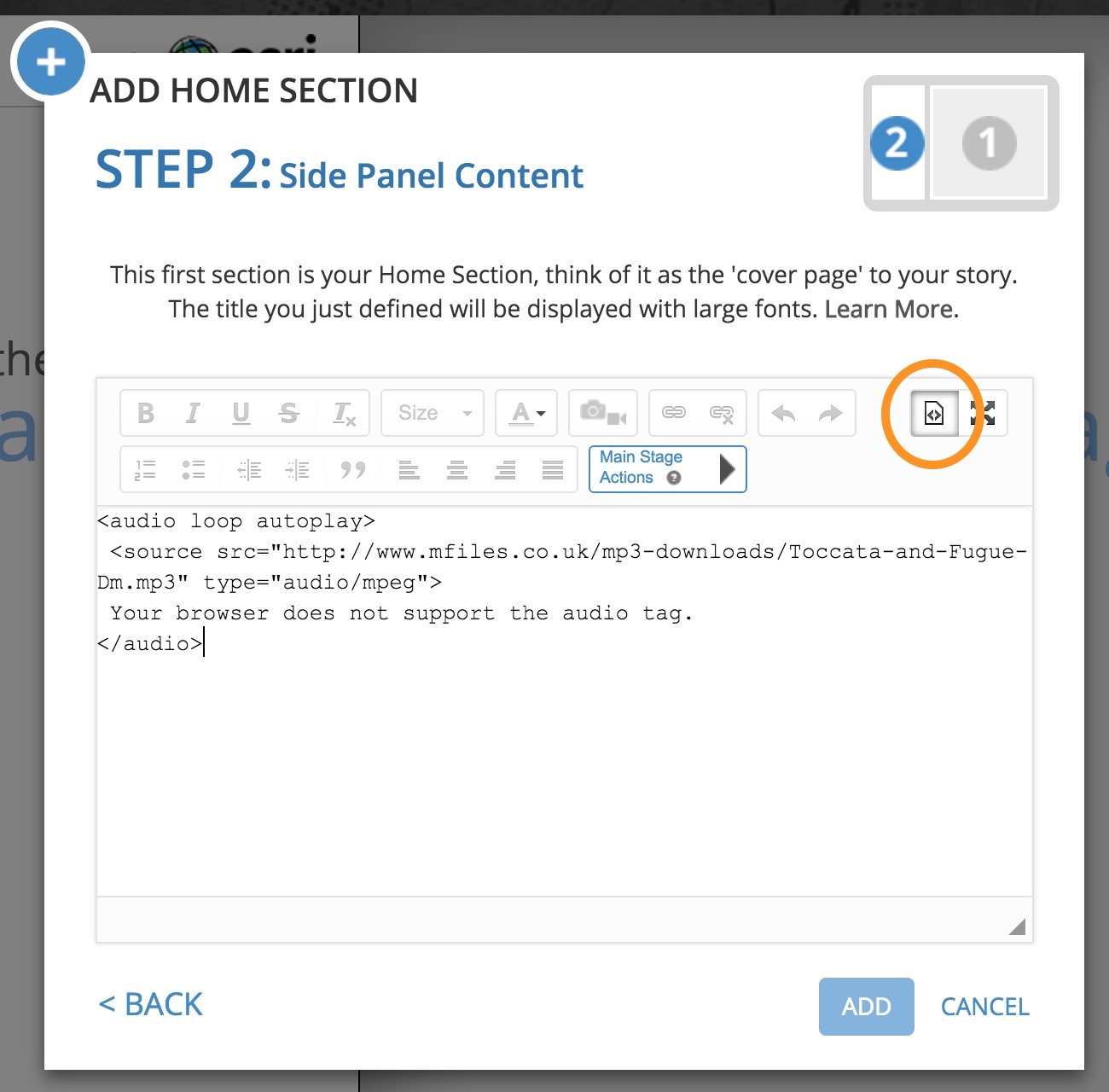 Add <audio> to your Map Journal - Story Maps Developers