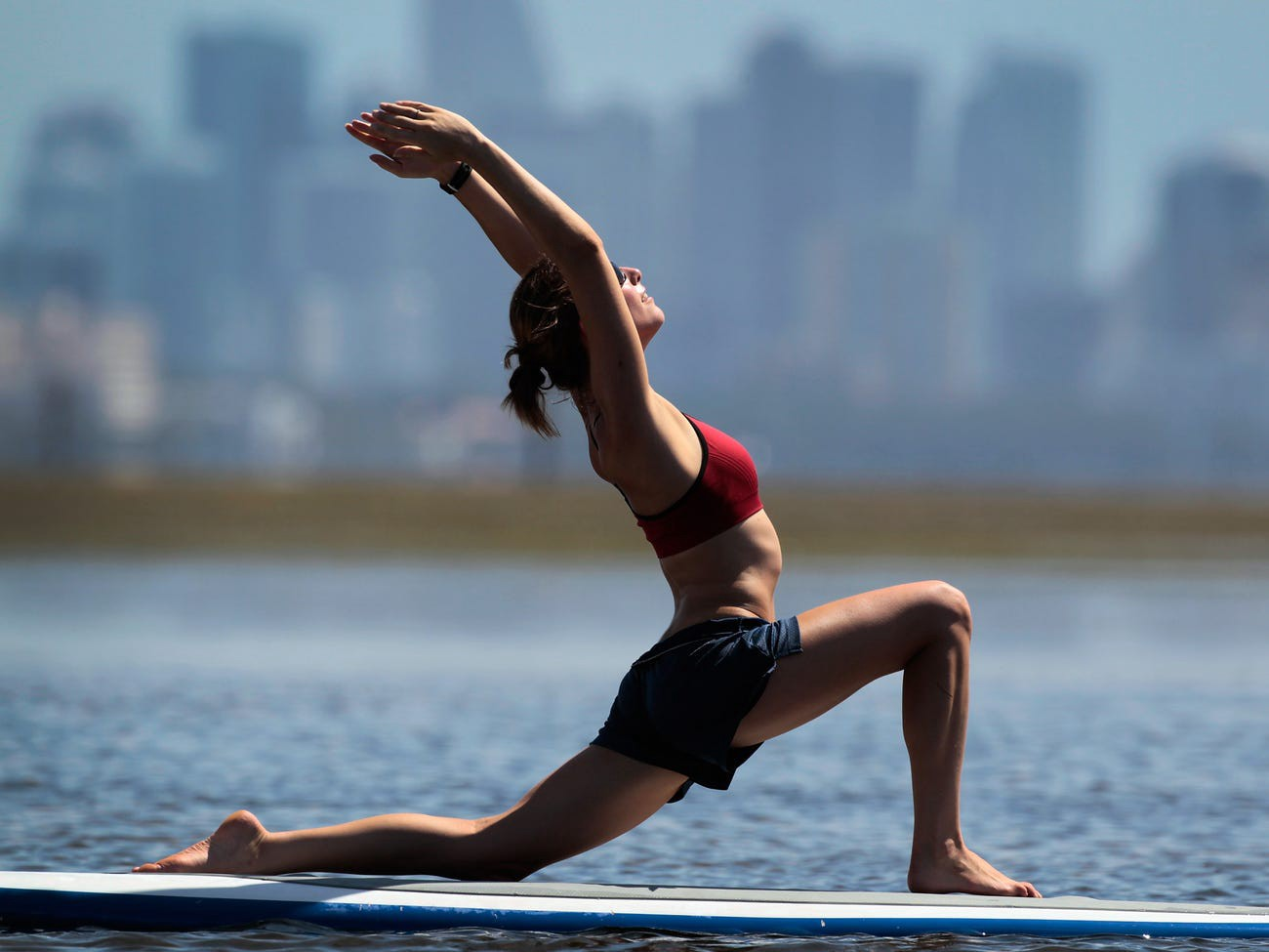Yoga can easily be practiced indoors when outside exercise isn't an option.