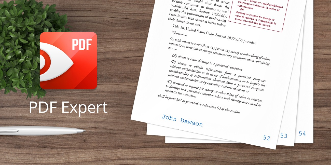 PDF Expert for Mac Gets an Amazing Update for Legal and