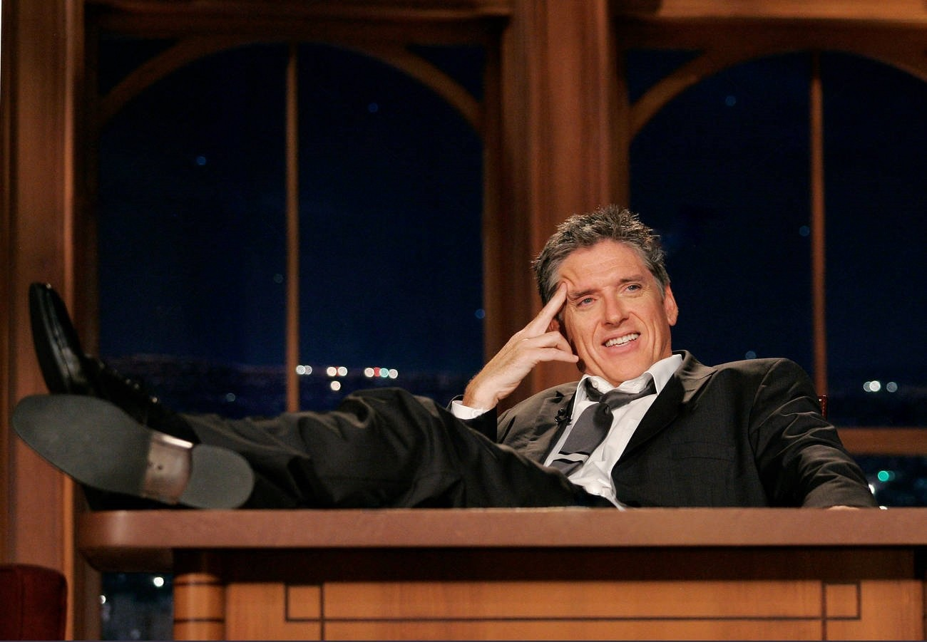 """Craig Ferguson attempts to make sense of the previous hijinks during a September 2009 epilogue of """"The Late Late Show"""" on CBS"""