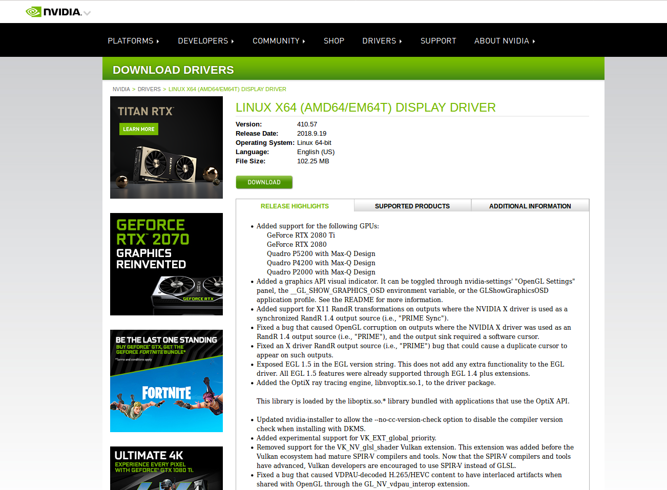 How To Install Nvidia Drivers and CUDA-10 0 for RTX 2080 Ti