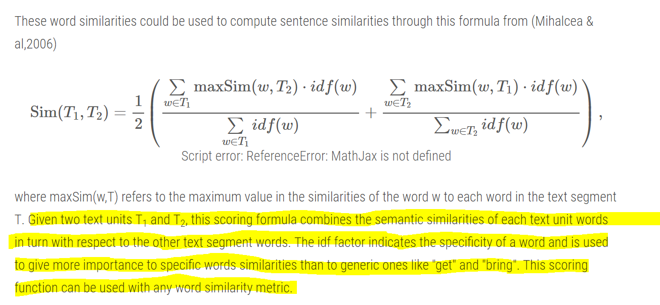 Text Similarities : Estimate the degree of similarity