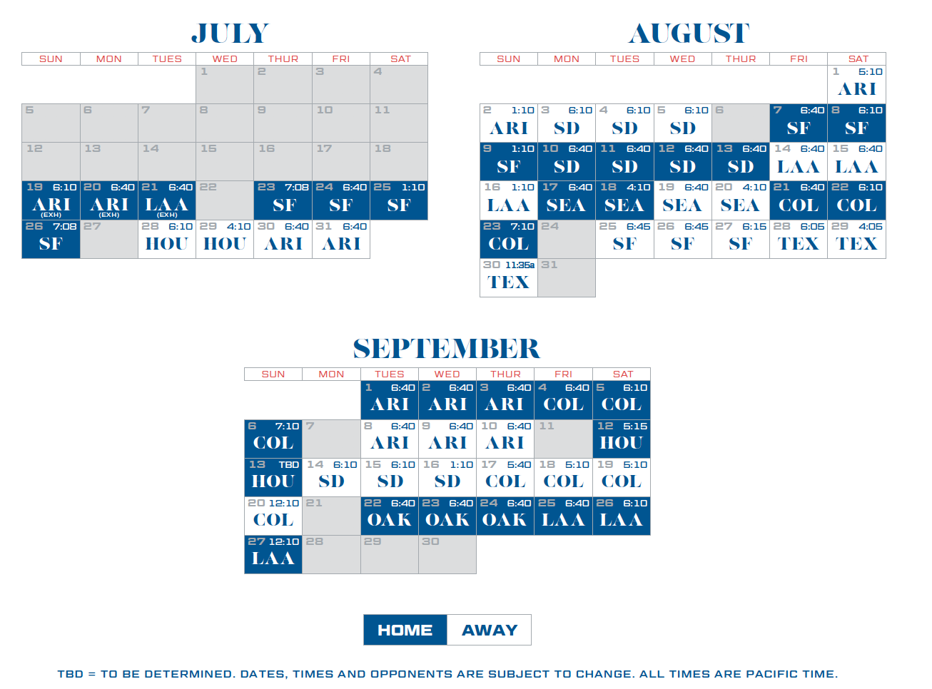 Dodgers Calendar Schedule 2021 Dodgers announce 2020 schedule. Dodgers' 60 game schedule begins