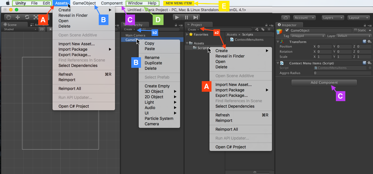 Guide to Extending Unity Editor's Menus - Red Blue Games