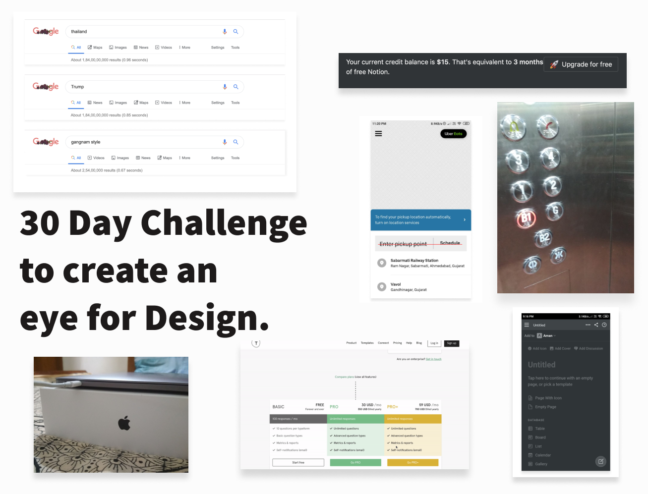 My 30 Day Design Challenge To Create An Eye For Design By Aman Gupta Ux Collective