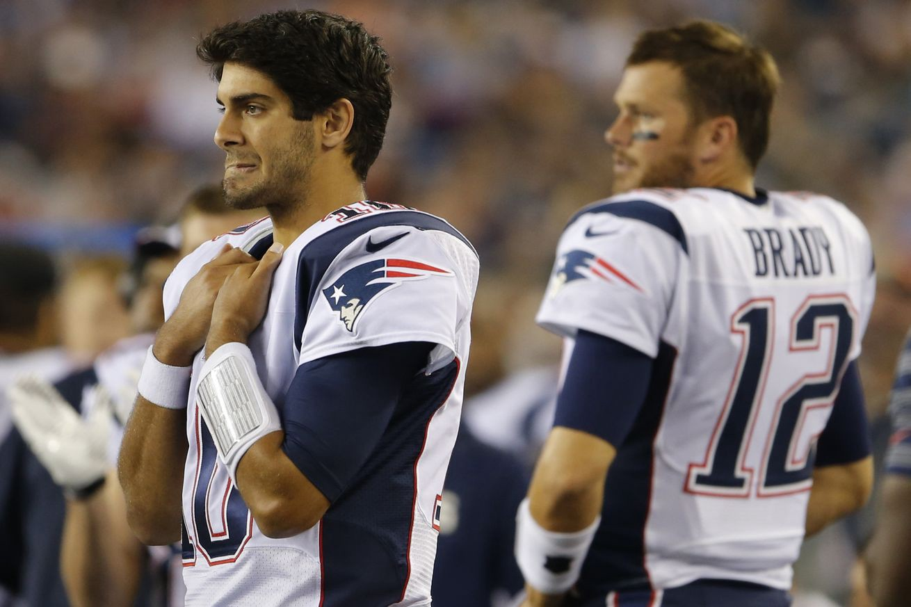 Patriots Receivers Say Jimmy Garoppolo Has The Bone