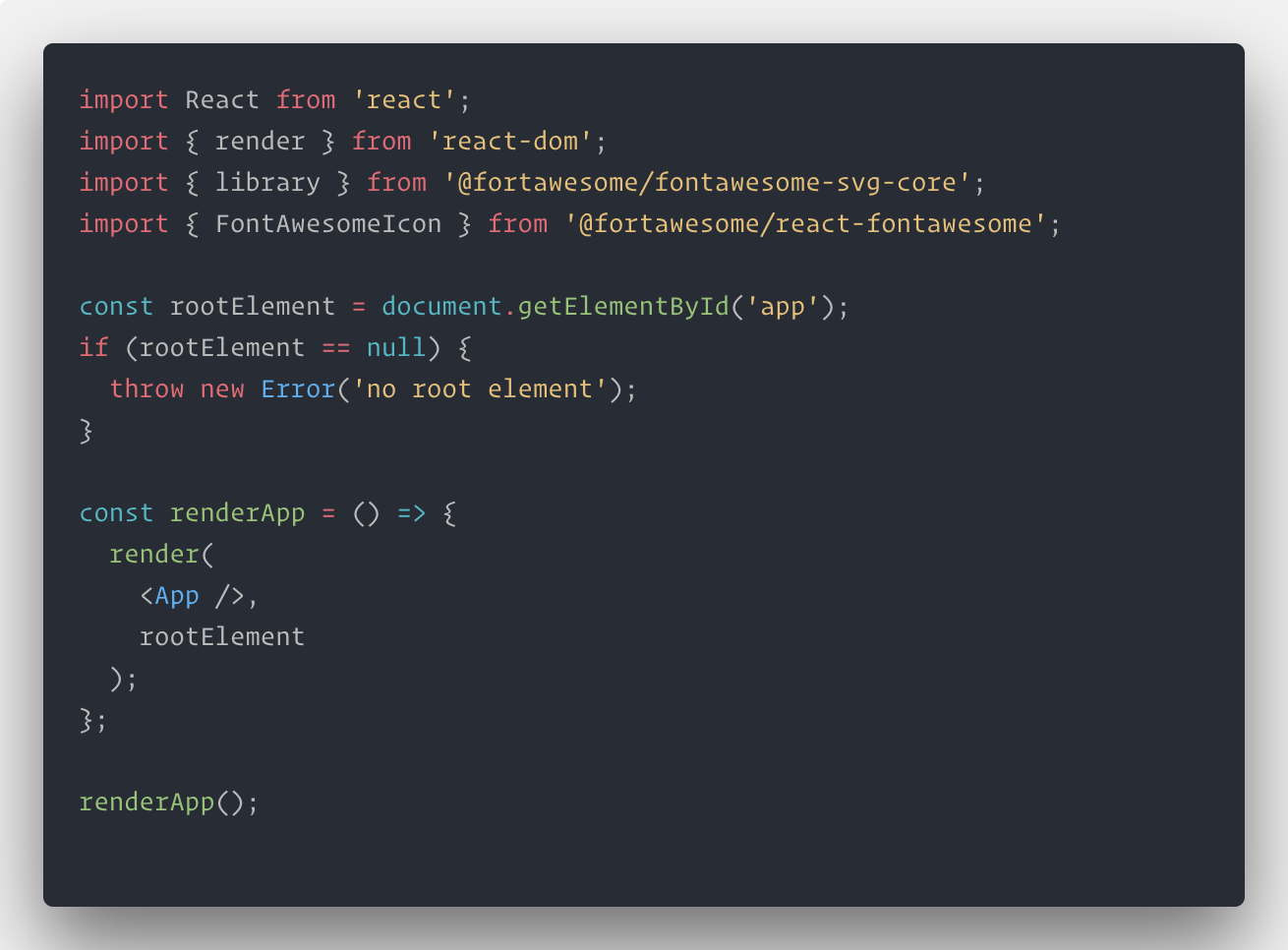Integrating FontAwesome within A React Project  - codeburst