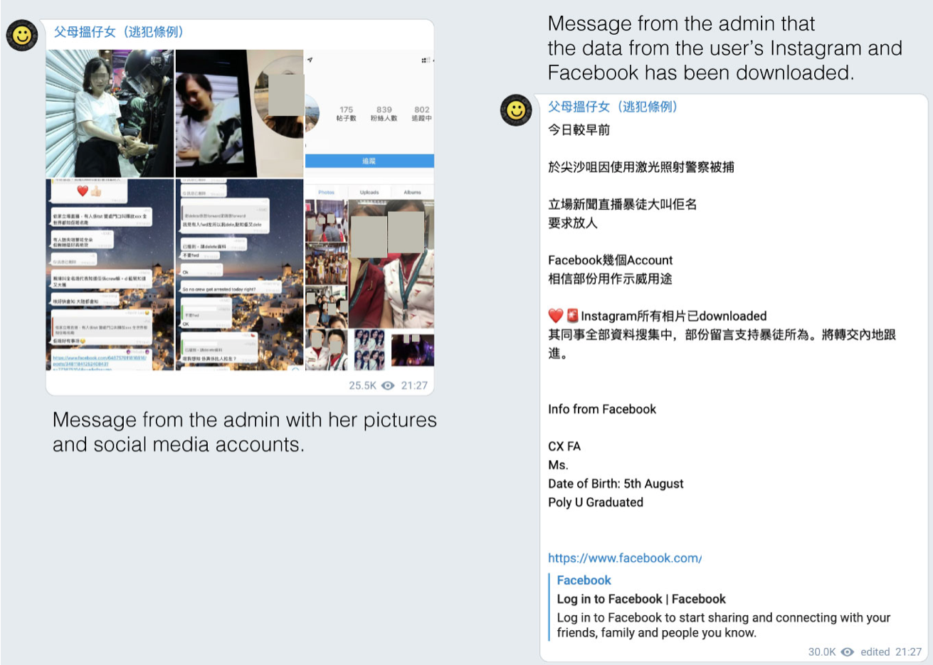 Telegram channels used to doxx and report Hong Kong protesters to Chinese Authorities 6