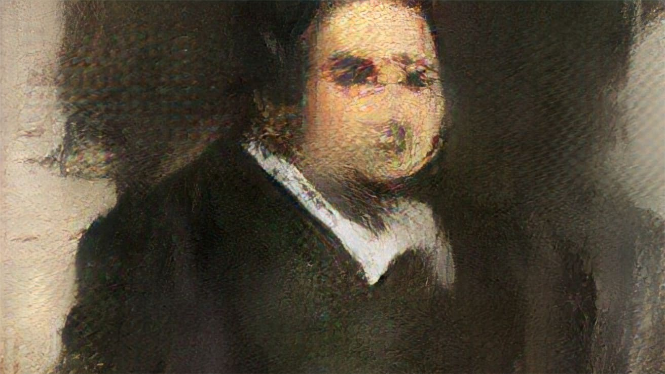 World's first AI generated painting with GAN's