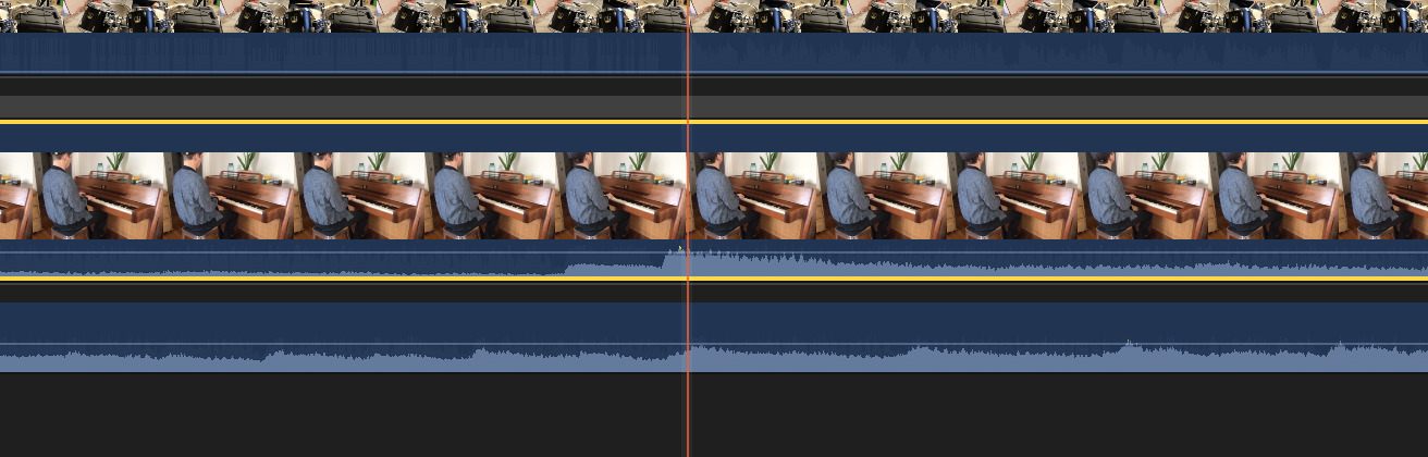 Aligning audio and video in Final Cut Pro X.