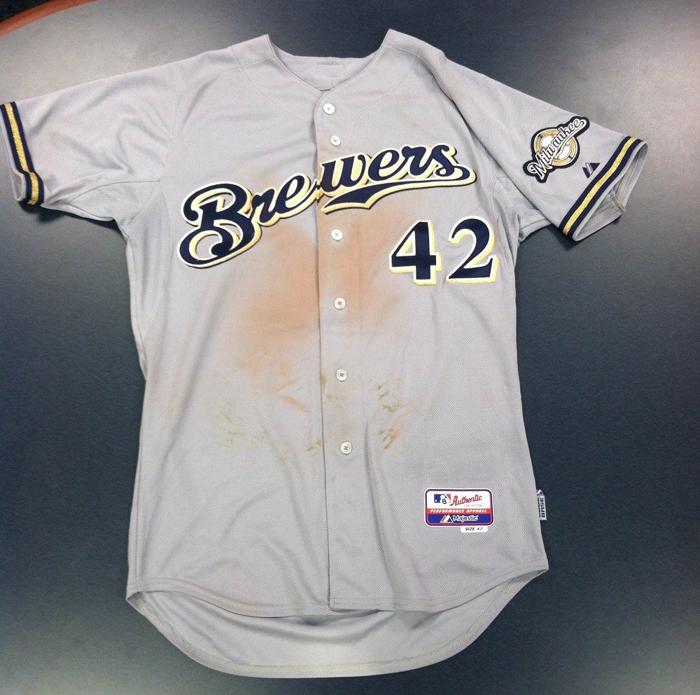 sale retailer 214f9 0c0f3 Game-Worn Jerseys to be Auctioned Off at brewers.com