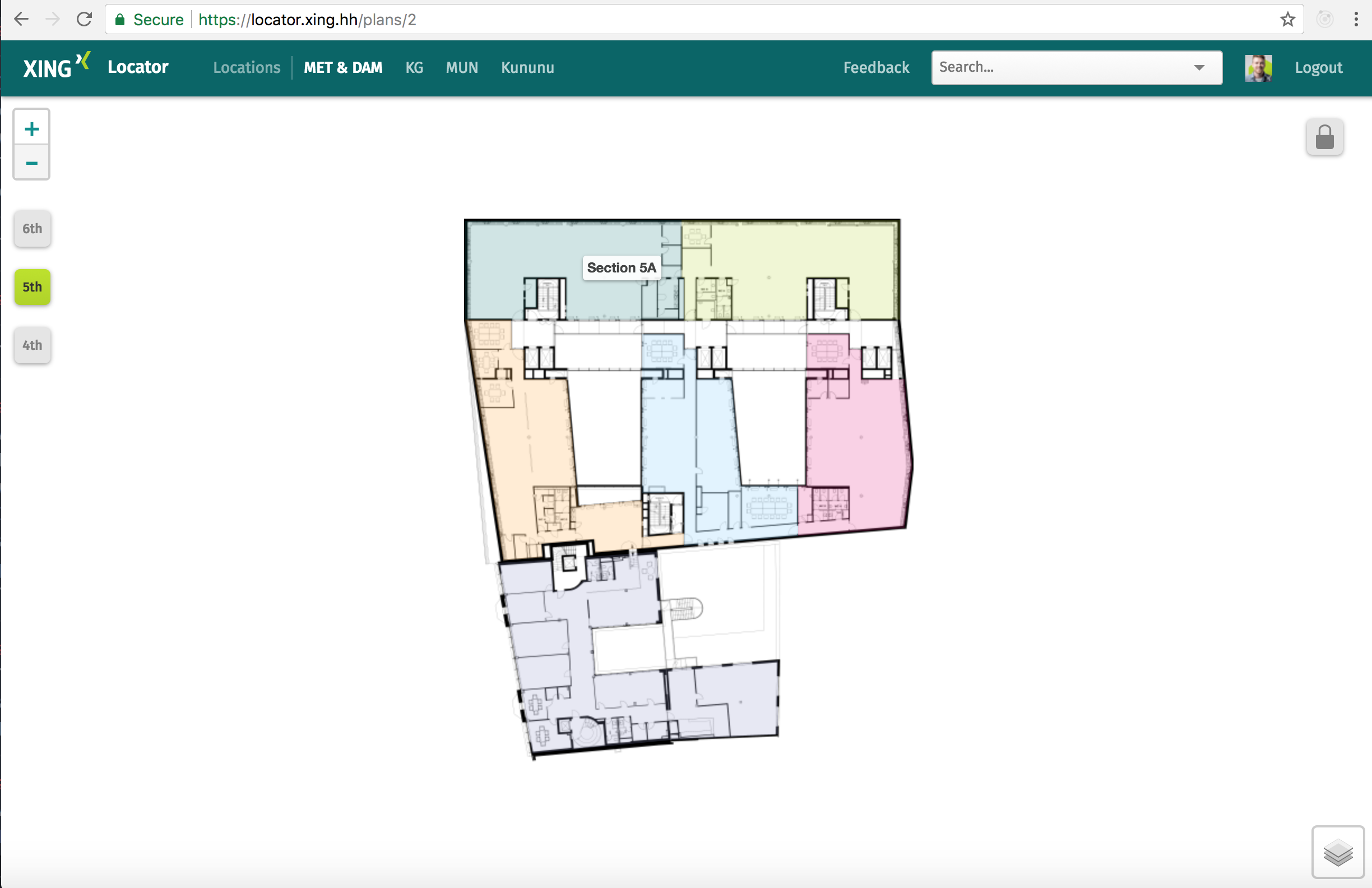 XING Locator: an interactive floor plan using Rails and Leaflet js