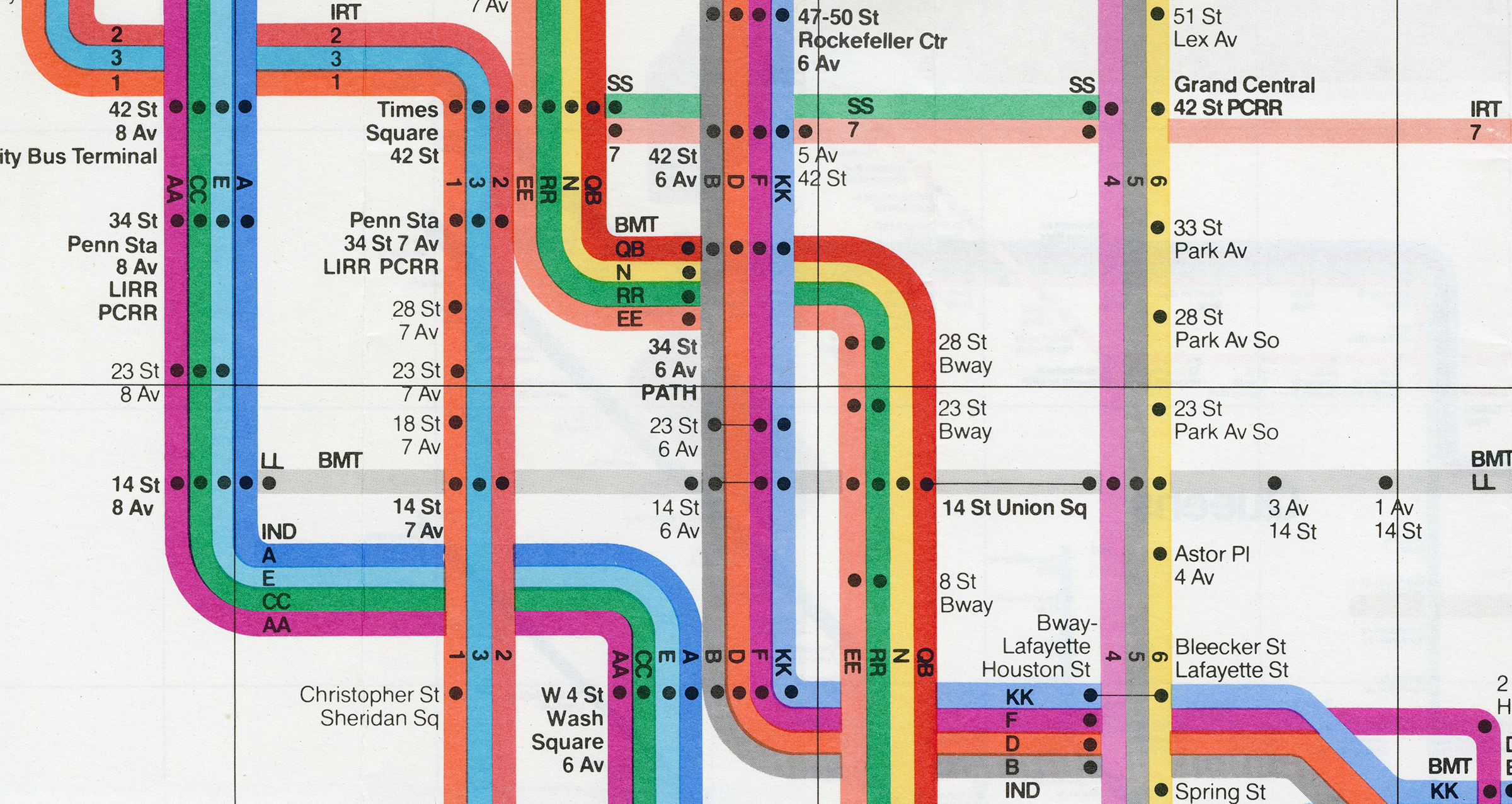 Massimo Vignelli 1972 Nyc Subway Map.How Vignelli S Design Still Influences Nyc S Subway Maps Today