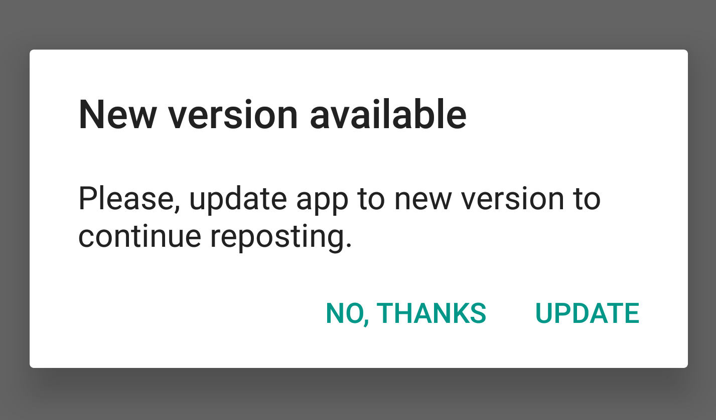 Force your users to update your app with using Firebase