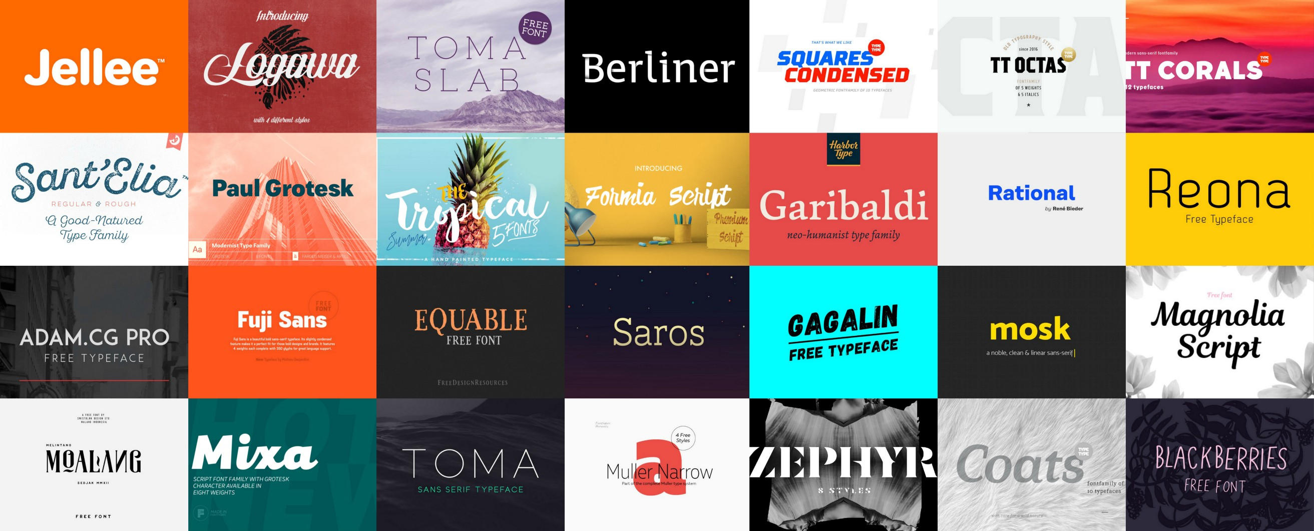 30+ Handpicked Free Fonts For Designers - August 2016