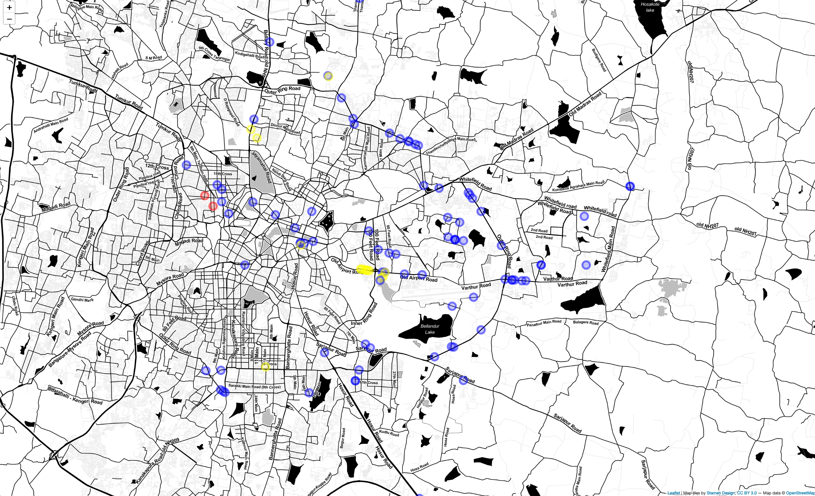 Building a WiFi spots Map of networks around you with WiGLE and R