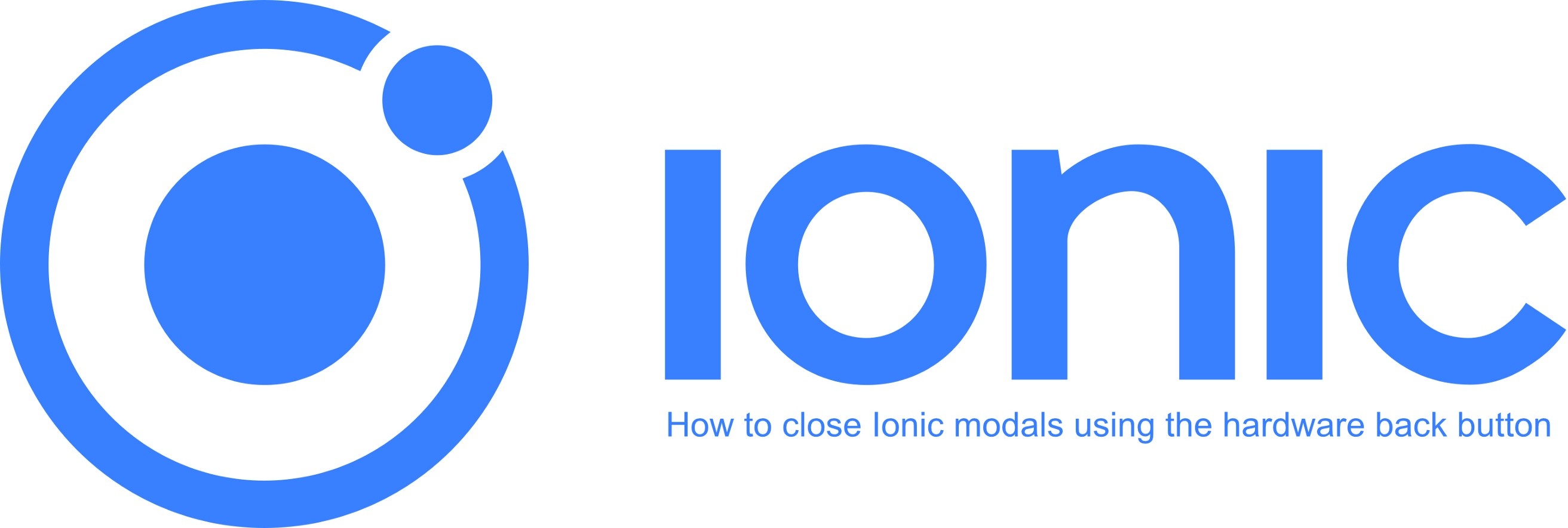 How to close Ionic modals using the hardware back button
