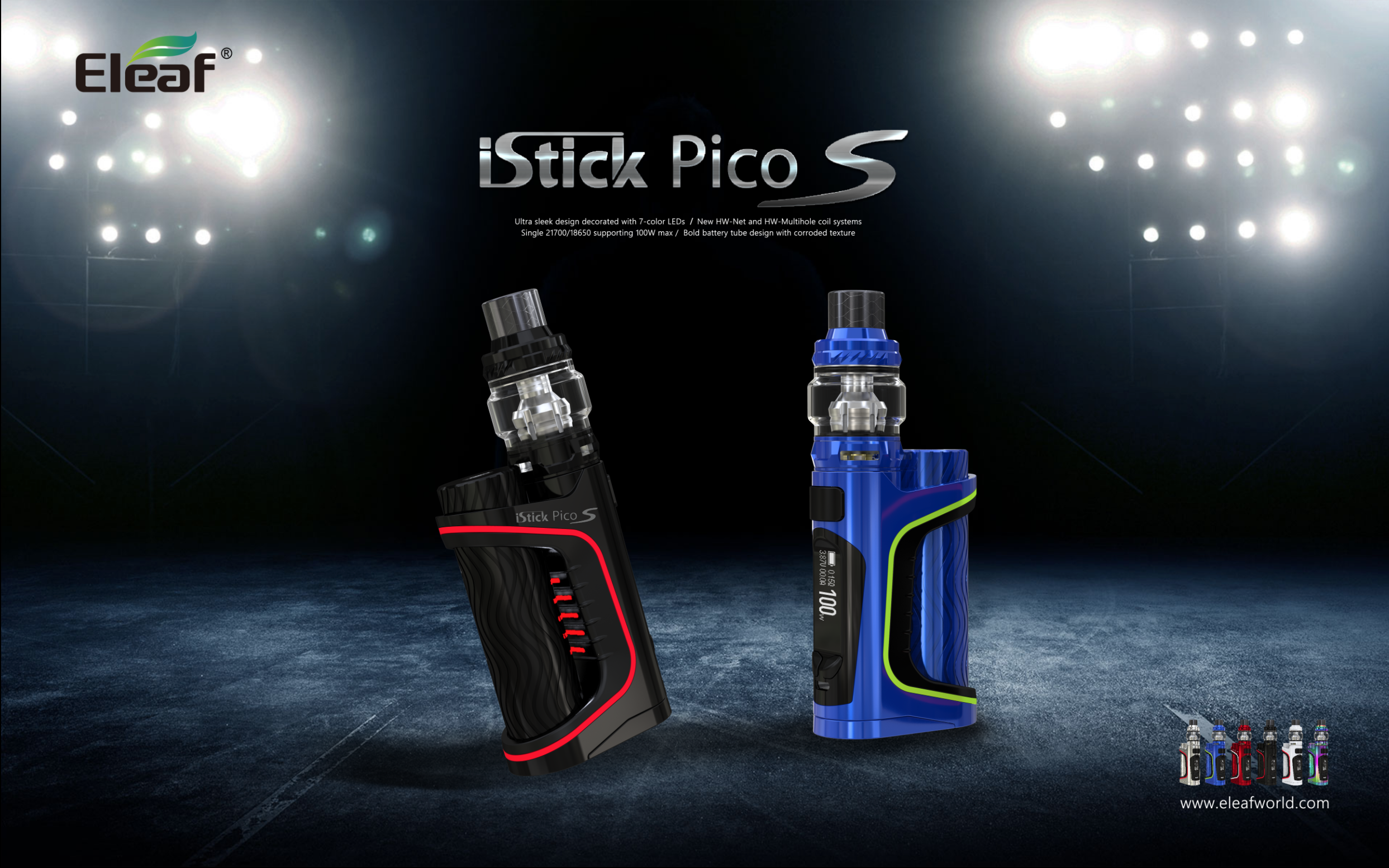Welcome the new iStick Pico S with ELLO VATE Atomizer to the Eleaf