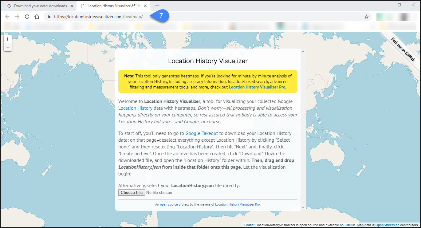 Analyze and Create a heat map of your Google Location History