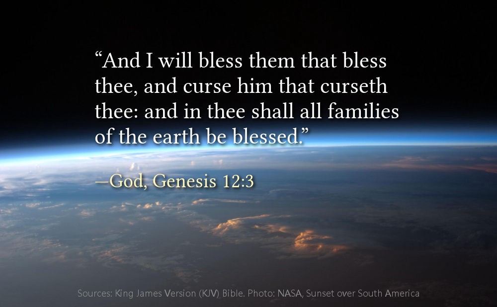 i will bless those who bless you and whoever curses you i will