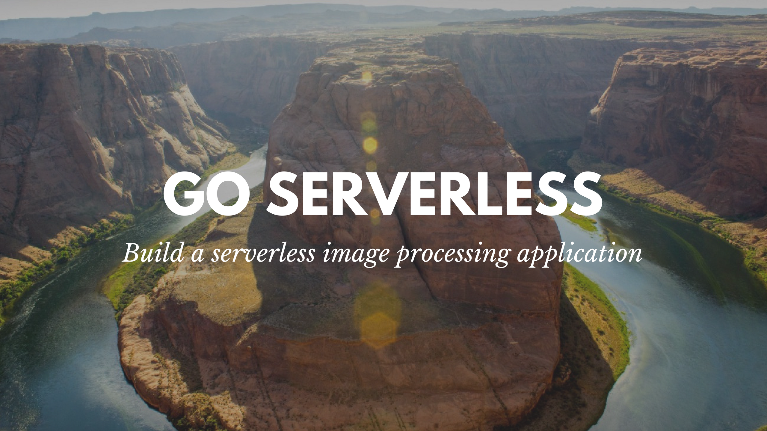 How to build a serverless app for on-demand image processing