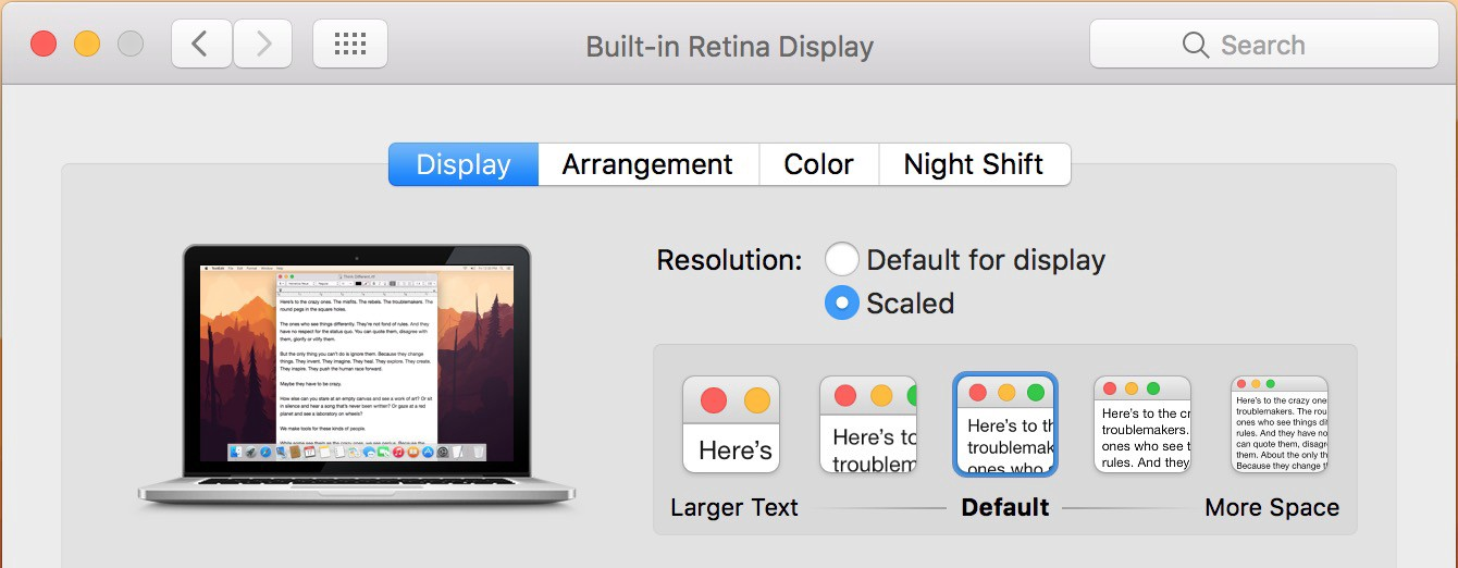 """How to Mimic a 2K Monitor as """"Retina Display"""" in macOS Sierra Using"""