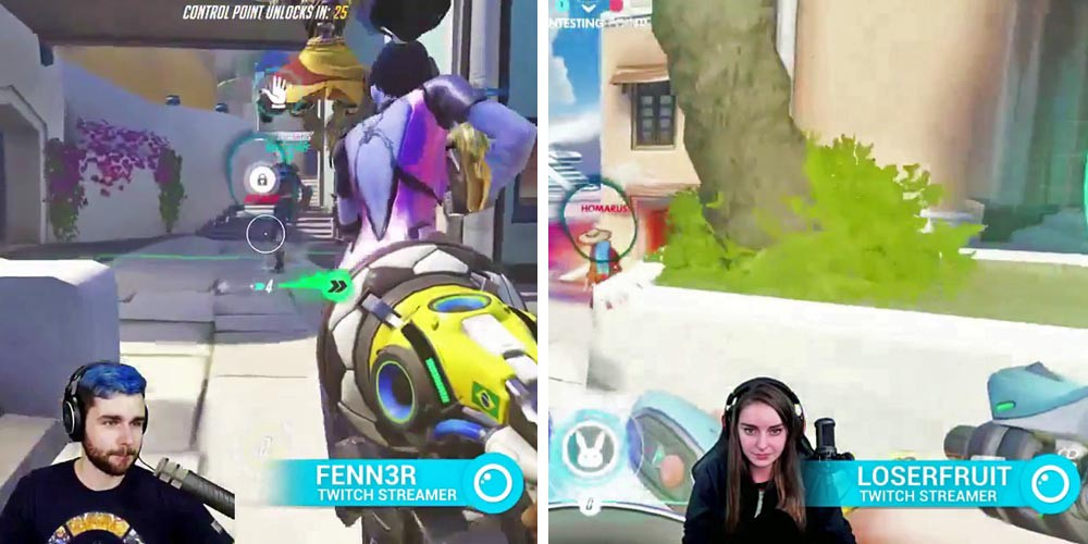 Twitch streamer Loserfruit tries out Streaming Gaze Overlay