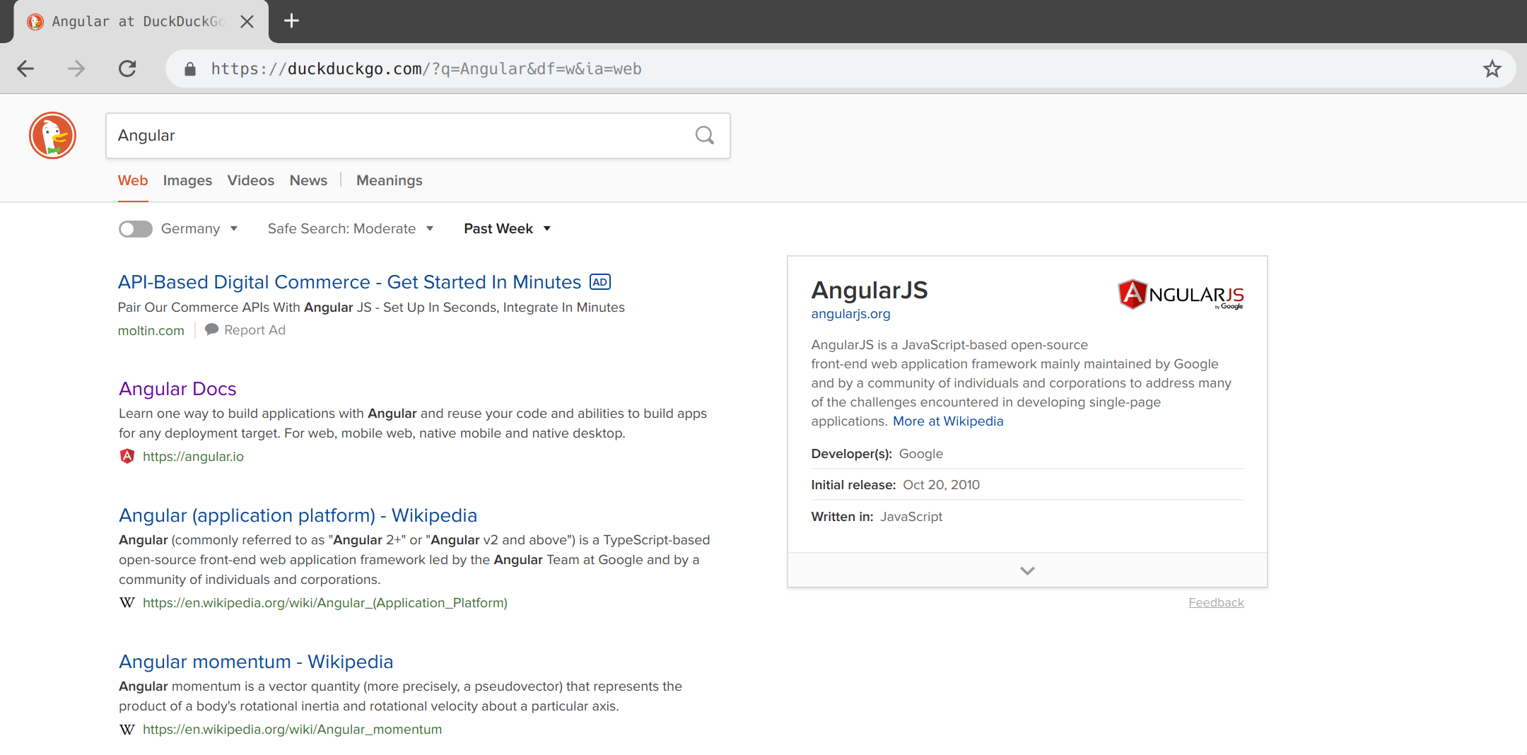 Synchronizing form controls with the URL in Angular