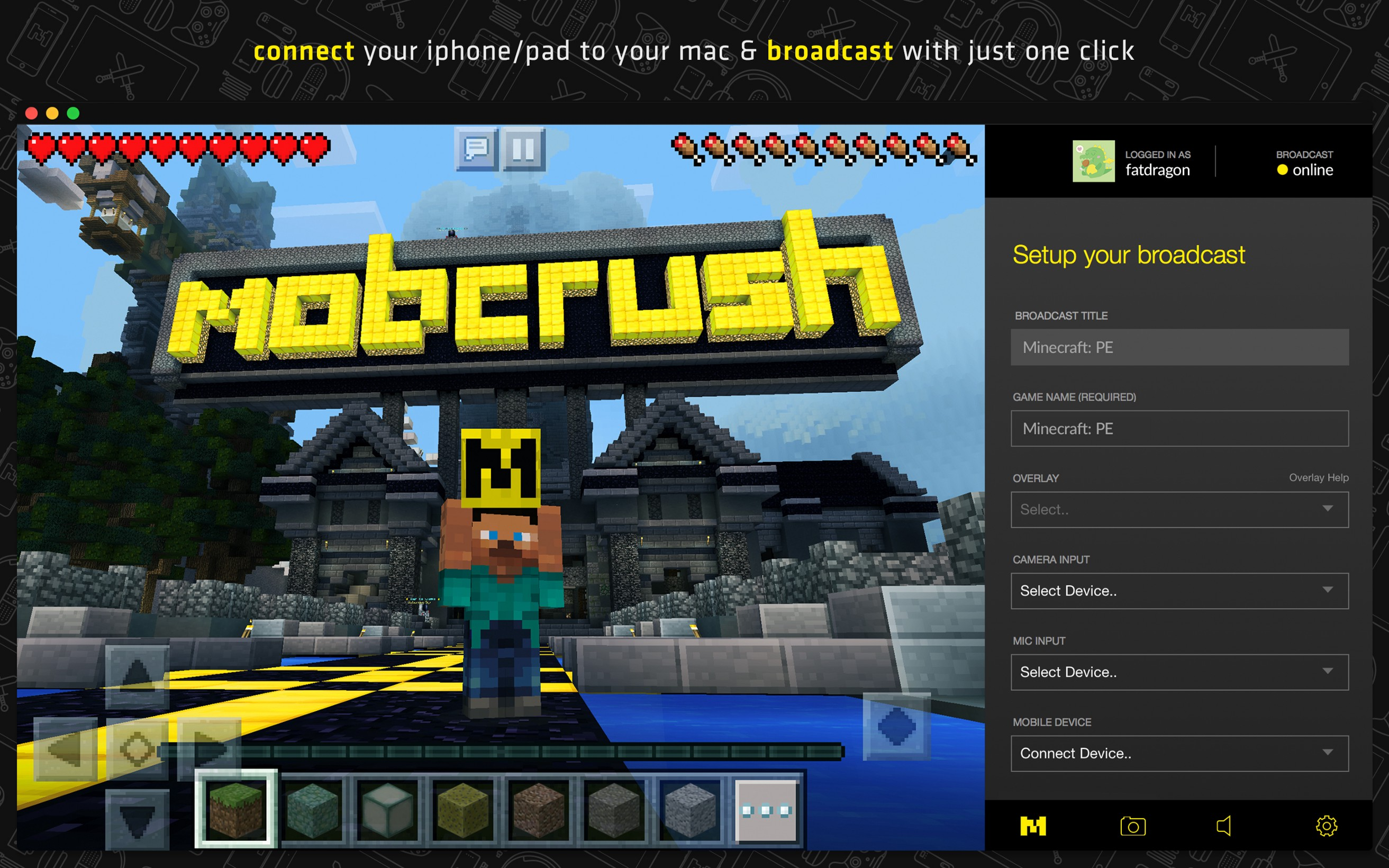 Streaming from your iPhone and iPad to Mobcrush is about to get even