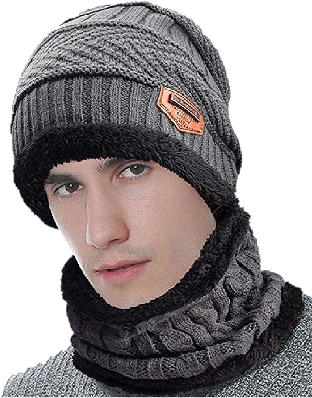 Zacharias Women S Woolen Cap With Neck Muffler Neckwarmer Set Of 2 Free Size Habibkamal Medium