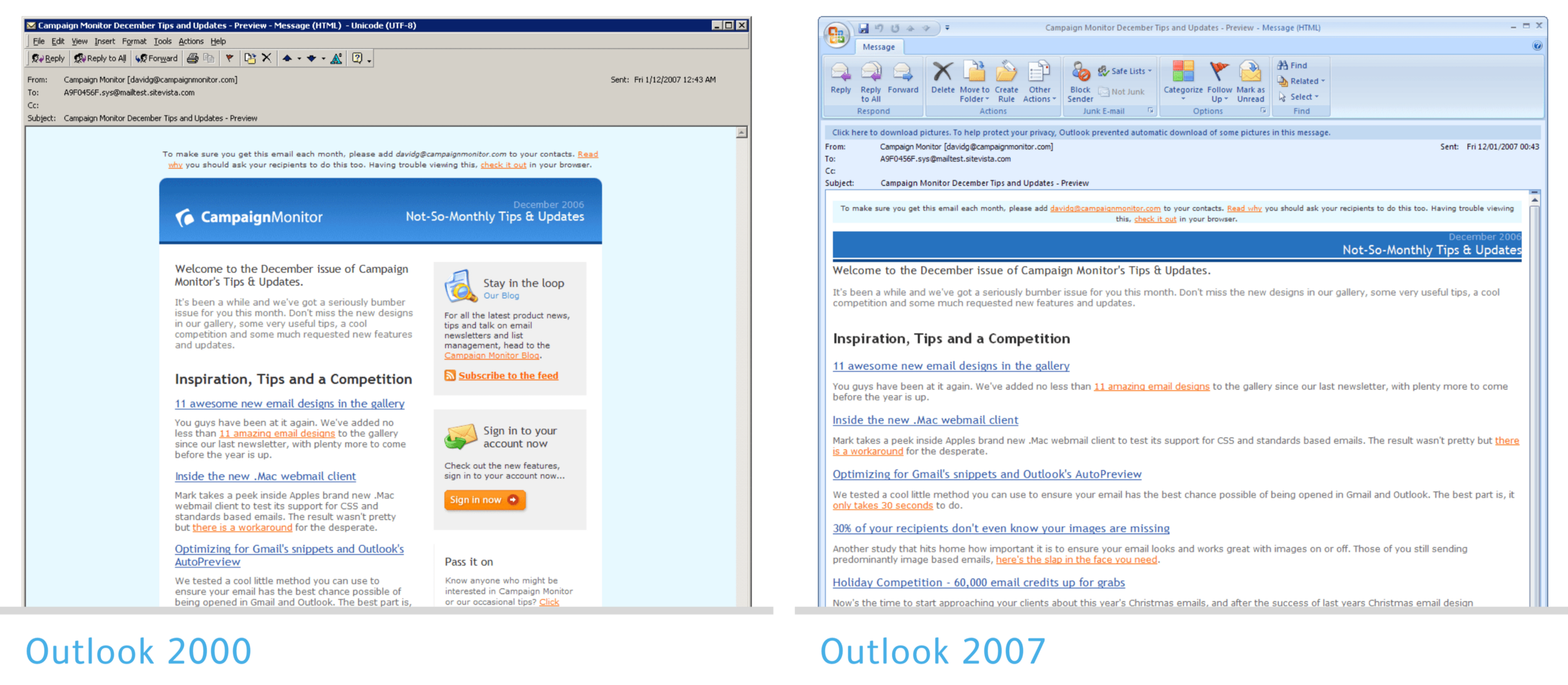 Fixing bugs with Outlook specific CSS - Campaign Monitor Engineering