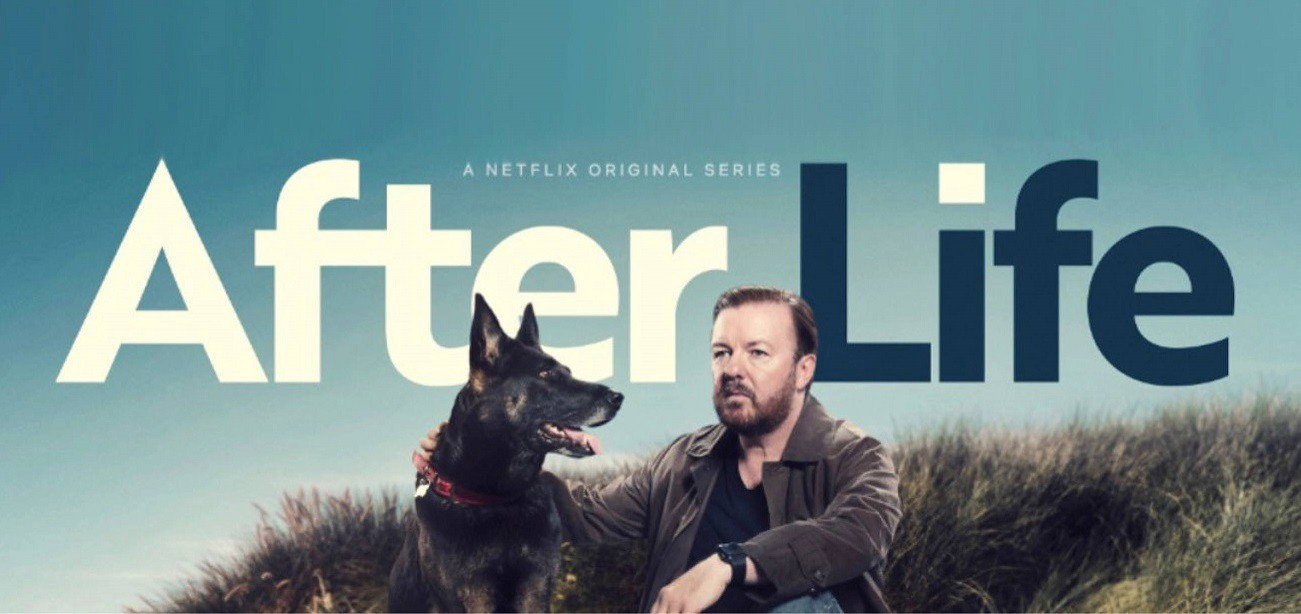 """Ricky Gervais' Show """"After Life"""" Breaks the #1 Writing Rule   by Claire J.  Harris   Writing Together   Medium"""