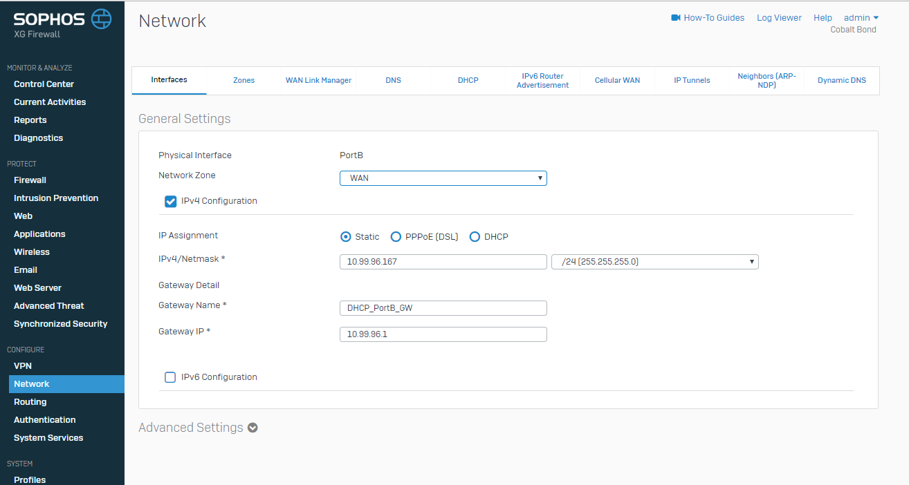 Running Sophos XG Firewall in Telefonica's OpenCloud ECS