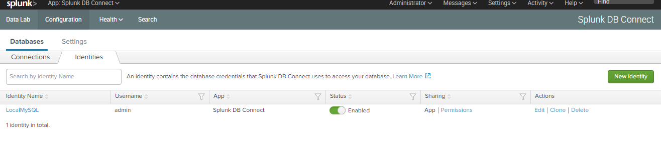 Build a simple dashboard with Splunk to visualise your DB data