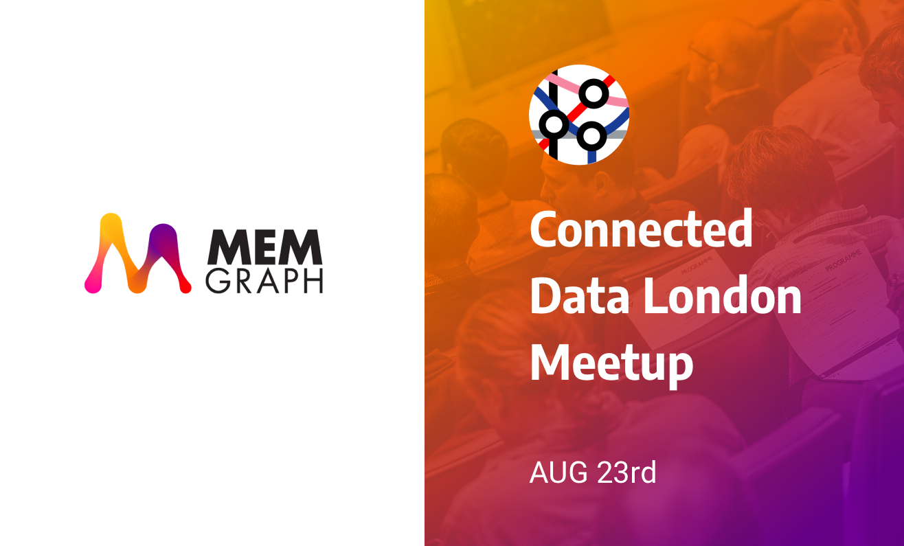 Join us at The Connected Data London Meetup on August 23ed 2018