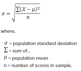 standard deviation s formula  Using Standard Deviation in Python - Towards Data Science