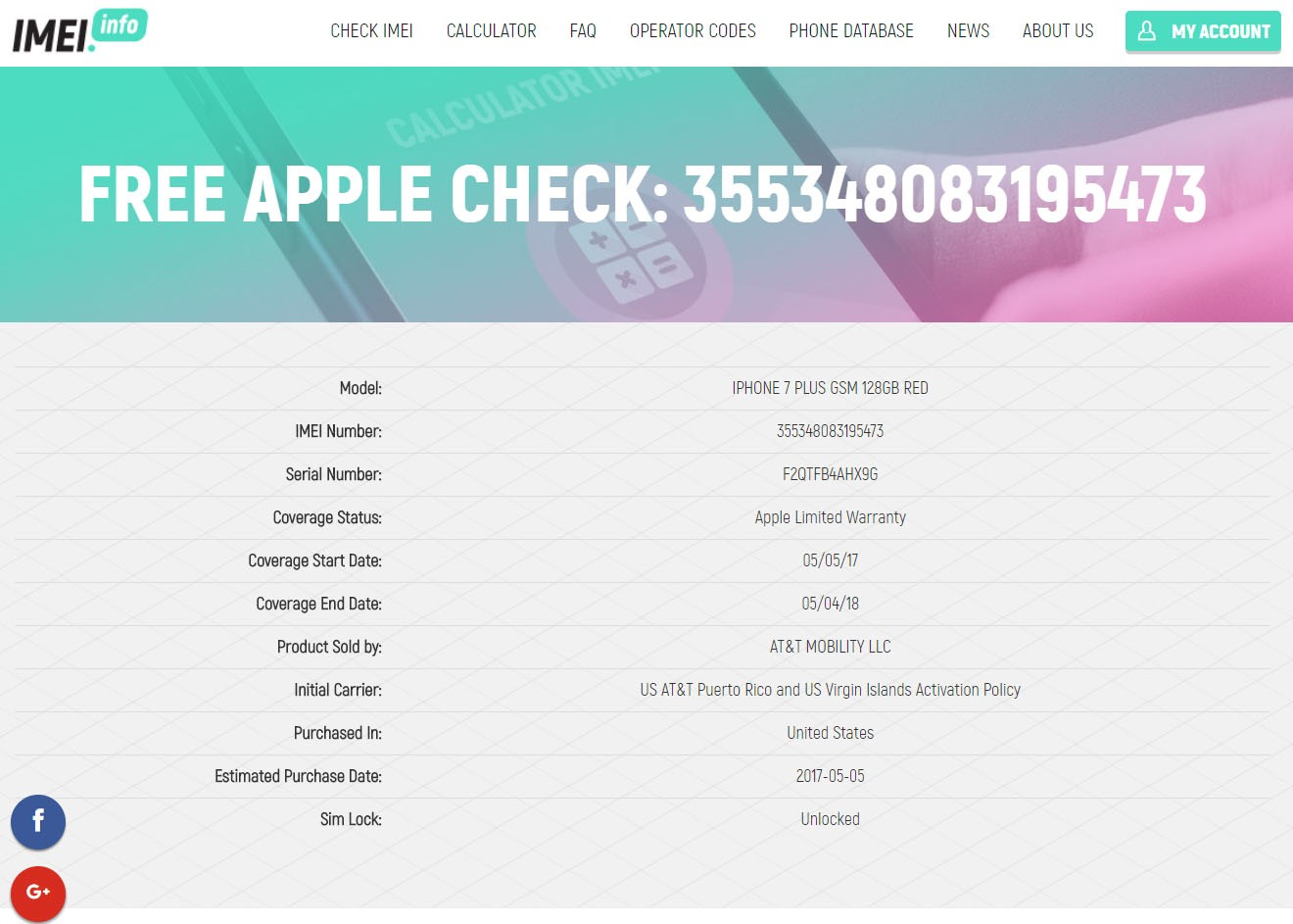 Check iCloud IMEI iPhone or Serial Apple FREE - idevice