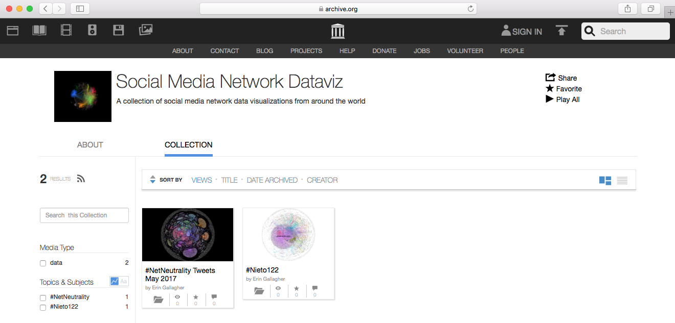 Internet Archive Network Visualization Project - Erin