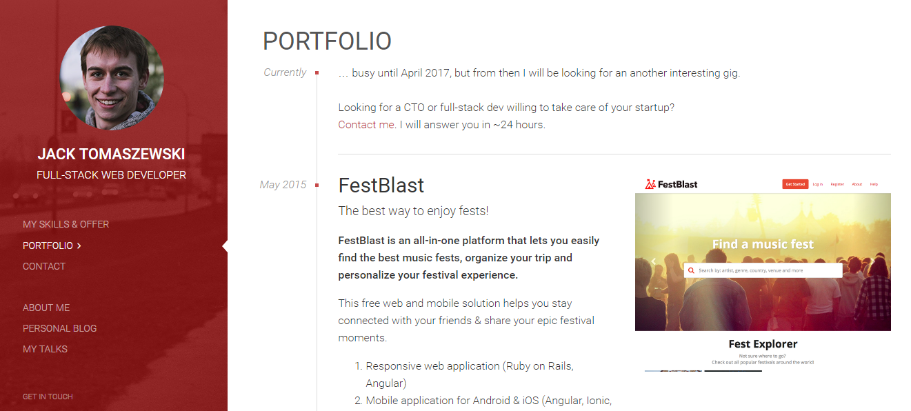 10 Awesome Web Developer Portfolios - codeburst