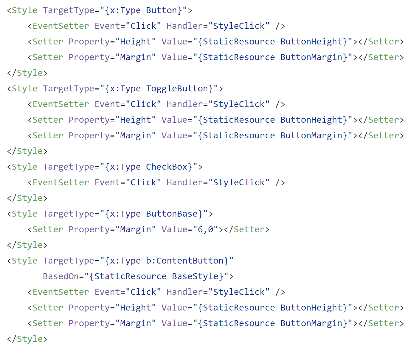 Attached behaviour for WPF Styles - cool blue - Medium